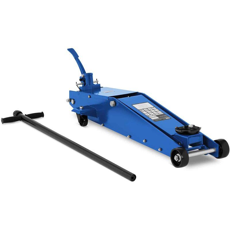 MSW - Cric Hydraulique Roulant Voiture Professionnel Atelier Acier 2 Tonnes 143-675mm