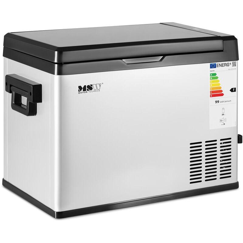 MSW - Mini Frigo De Voiture Réfrigérateur Portatif Glacière Voyage 41W 39L -20 à 20 °C
