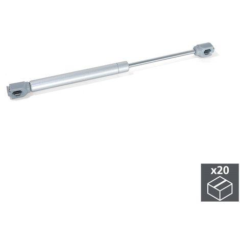 EMUCA 1276025 - Lote de 20 pistones para muebles con puertas elevables con fuerza 5 kg y recorrido 100 mm