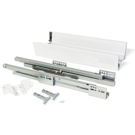 EMUCA 3015512 - Kit de cajón Vantage-Q altura 83 mm y profundidad 450 mm en color blanco