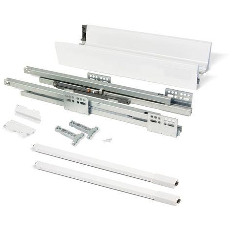 EMUCA 3018512 - Kit de cajón Vantage-Q altura 141 mm y profundidad 450 mm con barandillas en color blanco