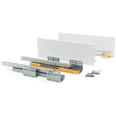 EMUCA 3100712 - Kit de cajón Concept altura 138 mm y profundidad 300 mm en color blanco