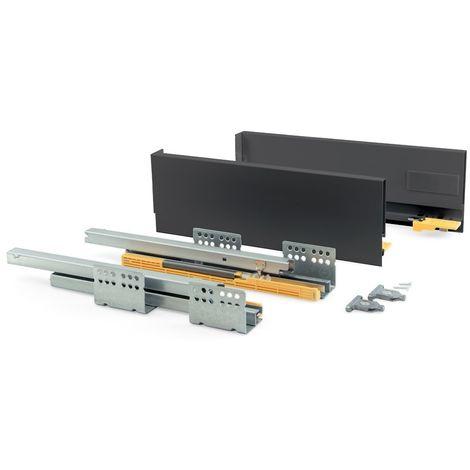 EMUCA 3100935 - Kit de cajón Concept altura 138 mm y profundidad 400 mm en color gris antracita