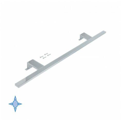 Emuca Aplique LED para espejo de baño, 800 mm, IP44, Luz blanca fría, Aluminio y plástico, Cromado