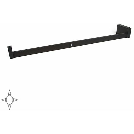 Emuca Barre de penderie pour armoire avec lumière LED, réglable 708-858 mm, batterie amovible, détecteur de mouvement, Lumière B