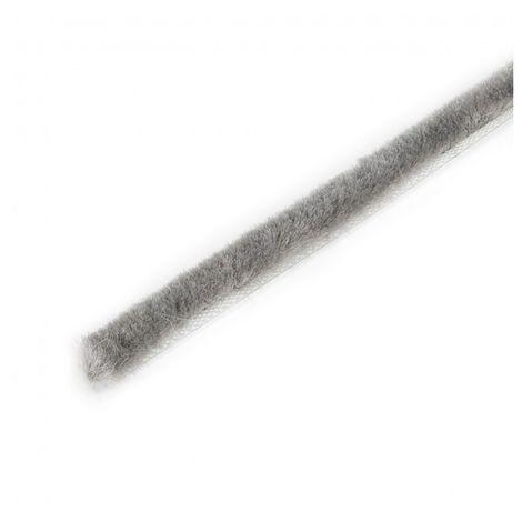 Emuca Burlete guardapolvo adhesivo, altura 7mm, rollo de 10 m, Gris