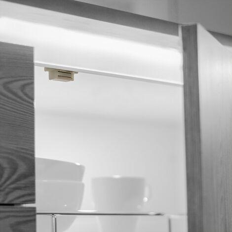 Emuca Cierre magnético para puertas, Acero y plástico, Blanco, 20 ud.