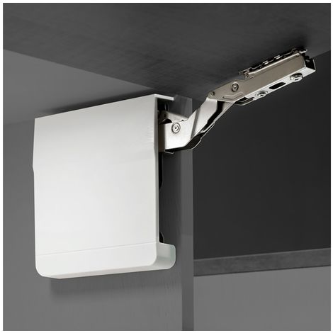 Emuca Compás para puertas elevables, fuerza 3200-9000, Acero y Plástico, Gris Antracita