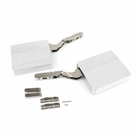 Emuca Compás para puertas elevables, fuerza 480-1.250, Acero y plástico, Gris antracita