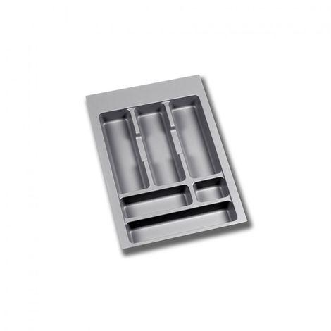Emuca Cubertero para cajón de cocina, módulo 1000 mm, Plástico, Gris