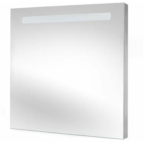 Emuca Espejo de baño Pegasus con iluminación LED frontal 60x70cm