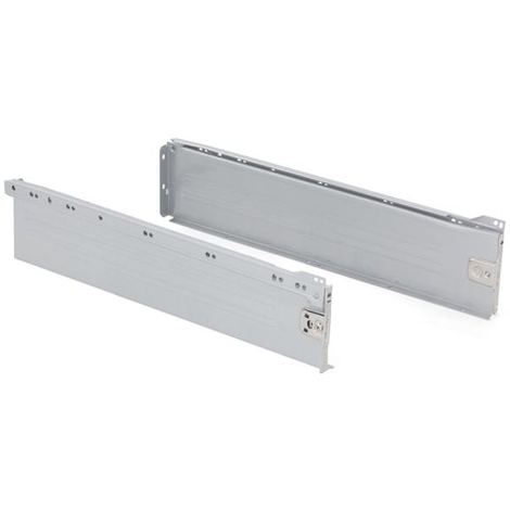 "main image of ""Emuca Kit cajón de cocina Ultrabox, altura 118 mm, prof. 450 mm, Acero, Gris metalizado - Pintado aluminio"""