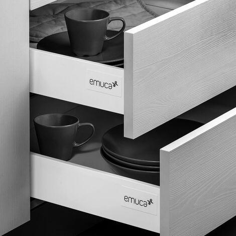 Emuca Kit cajón de cocina y baño Vantage-Q, cierre suave
