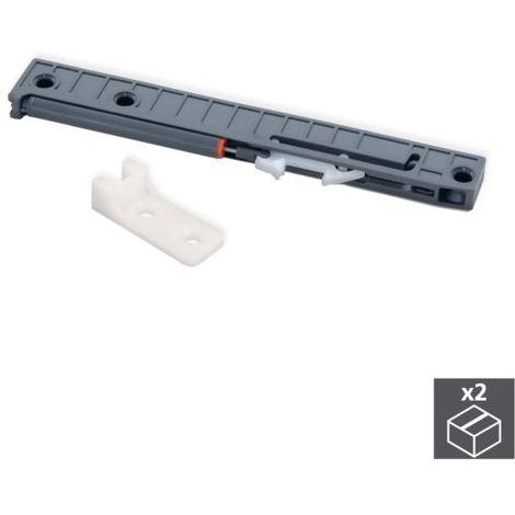 Emuca mecanismo de cierre suave para cajón con guías de ruedas, 350-800 mm, plástico, gris - talla