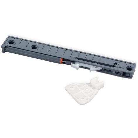 Emuca Mecanismo de cierre suave para cajón Ultrabox, 350-500 mm, Plástico, Gris