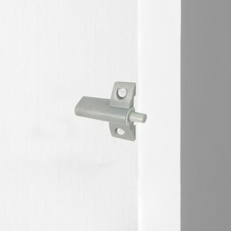Emuca Pistón amortiguador para puerta abisagrada, cierre suave, Plástico, Gris, 10 ud.