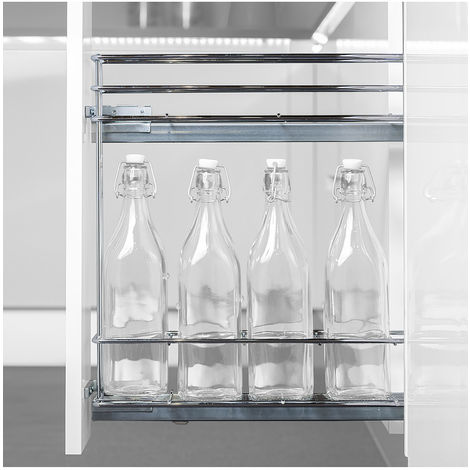 Emuca Porte-bouteilles extractible Supra avec fermeture amortie