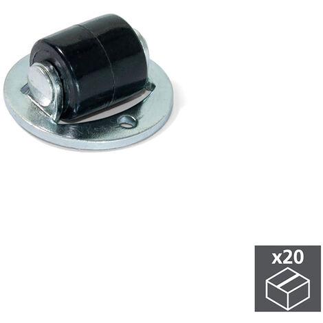 """main image of """"Emuca Roulettes pour meubles, à galet, D. 13 mm, Acier et plastique, 20 ut. - Zingué"""""""