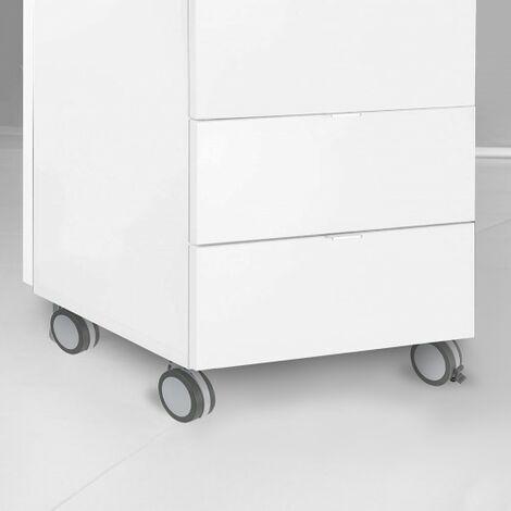Ruedas muebles con Freno con placa de montaje 100mm Set de 4