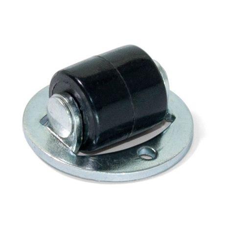 Emuca Ruedas para muebles, tapa giratoria, D.13 mm, Acero y plástico, 20 ud.