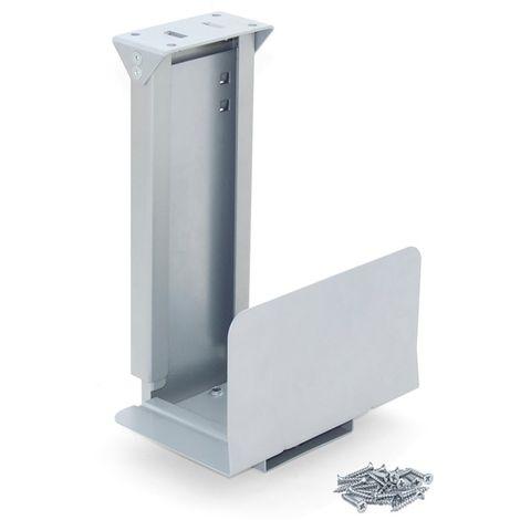 Emuca Soporte CPU, Acero, Gris metalizado - Pintado aluminio