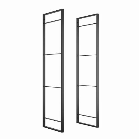 Emuca Structure pour étagère Lader, hauteur 830 mm, acier, peinture noire. - Peint en noir