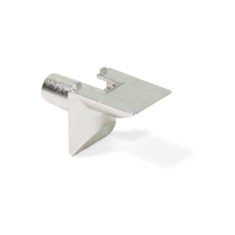 Emuca Support pour étagère en bois, D. 5 mm, Zamak, Nickelé, 50 ut. - talla