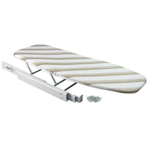 Emuca Tabla de planchar extraíble, 945 mm, Acero, Blanco