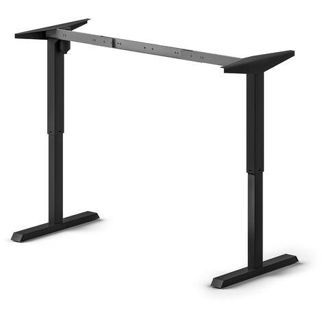 Emuca Table motorisée à hauteur réglable, acier, blanc