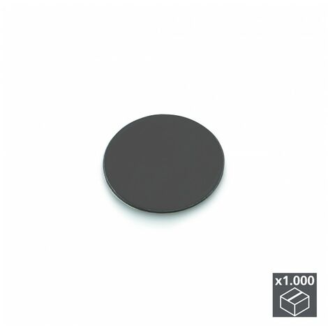 Emuca Tapa tornillos, adhesiva, D. 13 mm, Gris antracita, 1.000 ud.