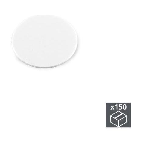 Emuca tapa tornillos, adhesiva, d. 20 mm, blanco, 150 ud. - talla