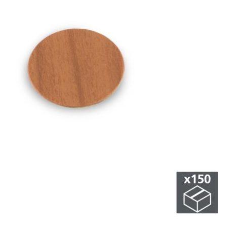 Emuca tapa tornillos, adhesiva, d. 20 mm, color cerezo, 150 ud. - talla