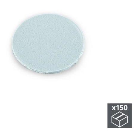 Emuca tapa tornillos, adhesiva, d. 20 mm, gris, 150 ud. - talla