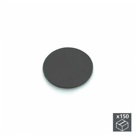 Emuca Tapa tornillos, adhesiva, D. 20 mm, Gris antracita, 150 ud.