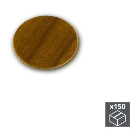 Emuca tapa tornillos, adhesiva, d. 20 mm, marrón, 150 ud. - talla
