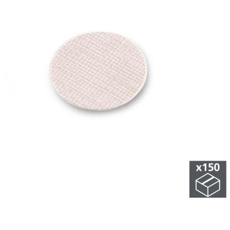 Emuca tapa tornillos, adhesiva, d. 20 mm, textil beige, 150 ud. - talla