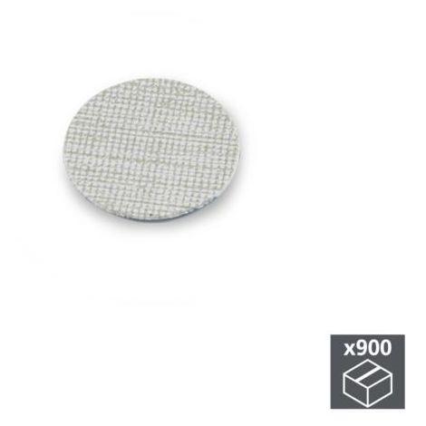 Emuca tapa tornillos, adhesiva, d. 20 mm, textil gris, 900 ud. - talla
