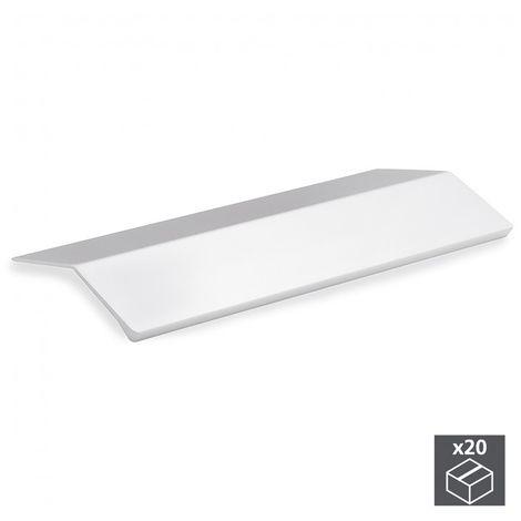 Emuca Tirador adhesivo para mueble, 126 mm, Aluminio, Anodizado mate, 20 ud.