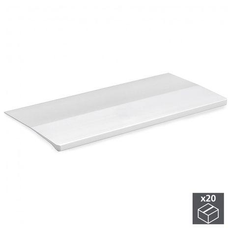 Emuca Tirador adhesivo para mueble, 158 mm, Aluminio, Anodizado mate, 20 ud.