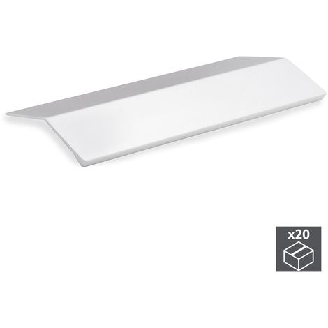 Emuca Tirador adhesivo para mueble, 94 mm, Aluminio, Anodizado mate, 20 ud.