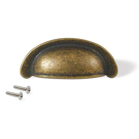 color crema 40mm armario o caj/ón Pomo redondo de 40 mm color negro mate para armario de cocina One Screw Hole Oro mate n/íquel pulido cobre envejecido