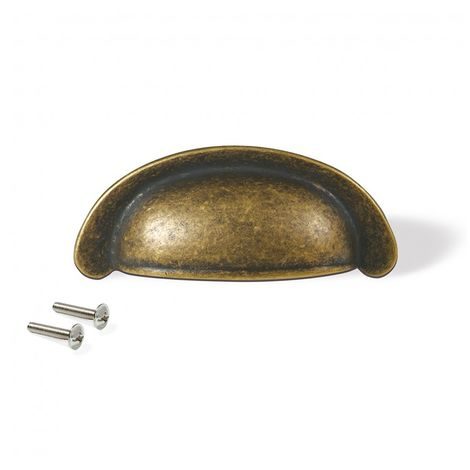 Emuca Tiradores para mueble, intereje 64 mm, Zamak, Bronce