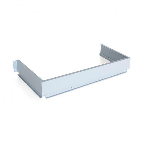 Emuca Trasera metálica para cajón bajo fregadero, Acero, Gris metalizado