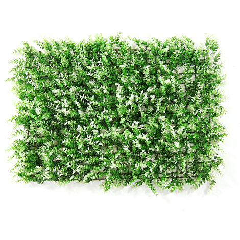 Emulational Ivy Artificial Ivy Leaf Plastic Garden Screen Wall Landscaping Fake Grass Plant Wall Backdrop Decorations Garden Fencing (typeE)