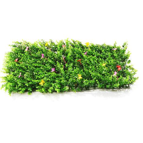 Emulational lierre feuille de lierre artificielle en plastique écran de jardin mur aménagement paysager faux gazon plante mur décorations de fond cl?ture de jardin (typeA)