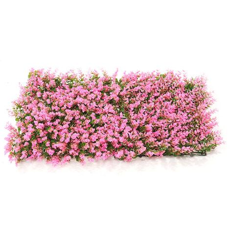 Emulational lierre feuille de lierre artificielle en plastique écran de jardin mur aménagement paysager faux gazon plante mur décorations de fond cl?ture de jardin (typeB)