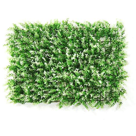 Emulational lierre feuille de lierre artificielle en plastique écran de jardin mur aménagement paysager faux gazon plante mur décorations de fond cl?ture de jardin (typeE)