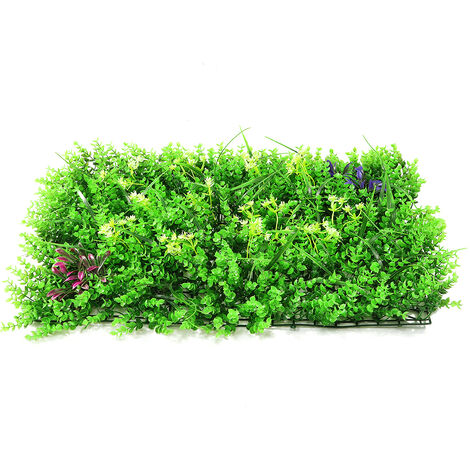 Emulational lierre feuille de lierre artificielle en plastique écran de jardin mur aménagement paysager faux gazon plante mur décorations de fond cl?ture de jardin (typeF)
