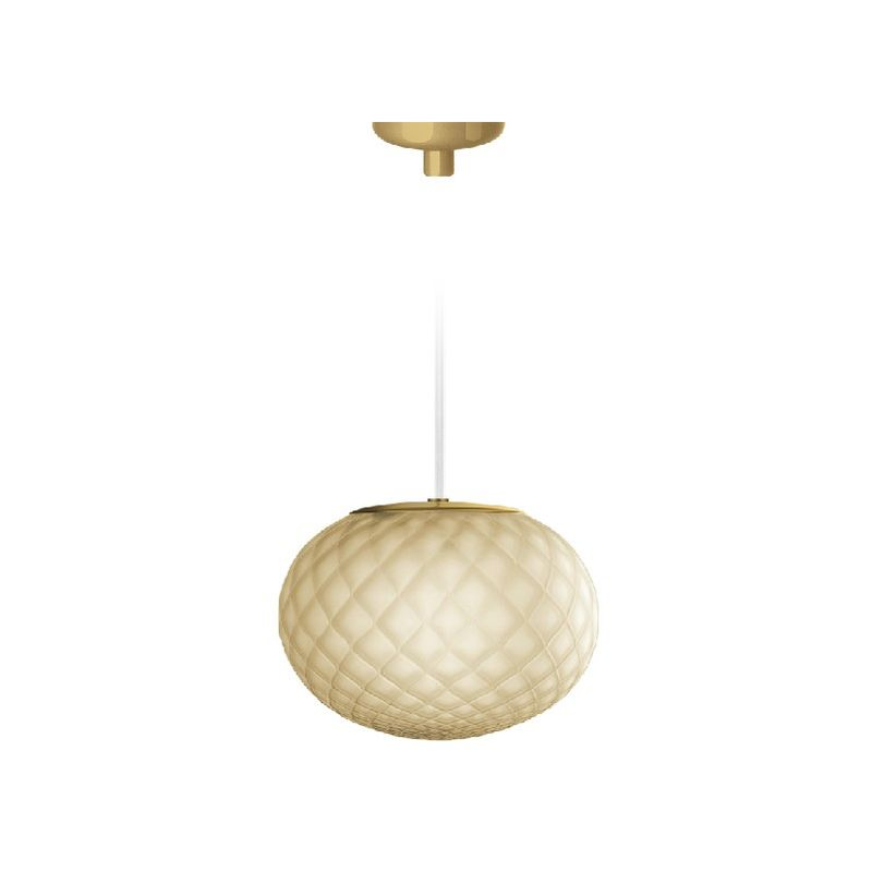 Homemania - Emy Haengelampe - Kronleuchter - Deckenkronleuchter - Gold aus Glas, 16 x 16 x 12,2 cm, 1 x G9, Max 48W, 220-240V
