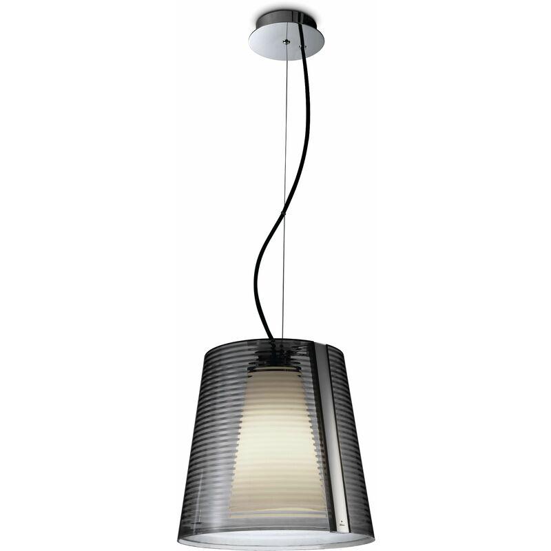 Image of Emy pendant light, PPMA aluminum and polycarbonate, chrome